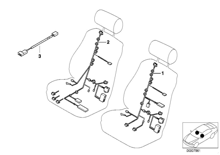 bmw m5 seat wiring