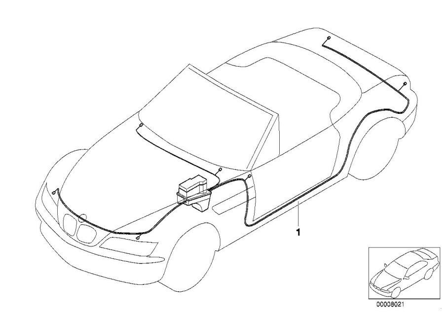 BMW Z3 Main wiring harness. System, Electrical