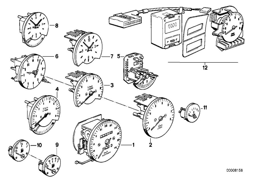 BMW 318i Revolution counter. Instruments, Instrument