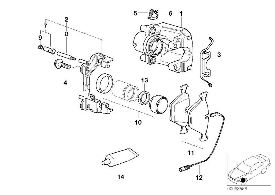 BMW 540i Ventilation valve. M10X1. ALPINA, BRAKE, Wheel