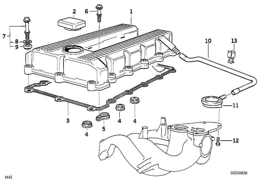 BMW 318ti Sealing cap, oil filler neck. CYLINDER, APPLIES