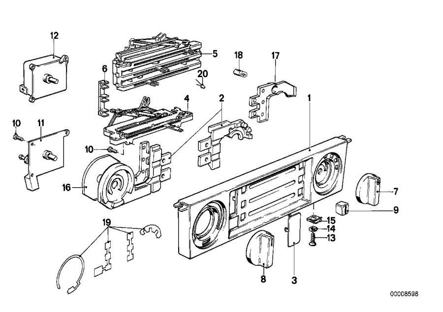 BMW M5 Knob temperature. Air, conditioning, heater