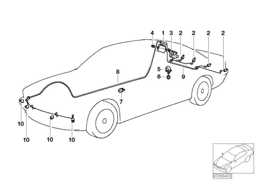 BMW 525i Ultrasonic sensor Titanium Silver. M354