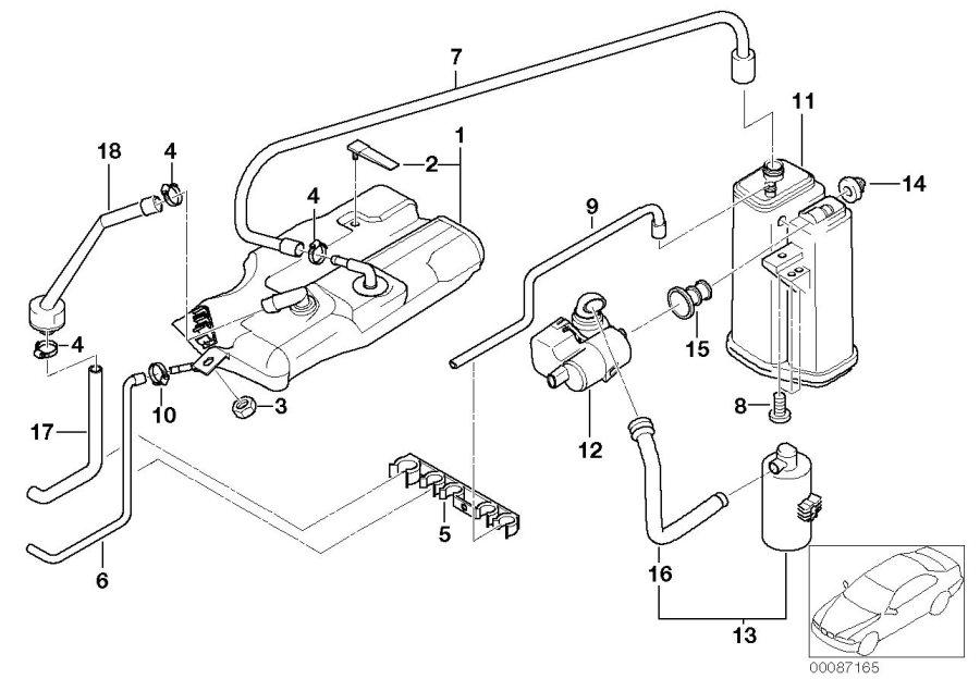 BMW Alpina B7X Leak diagnosis pump. ALPINA, FUEL