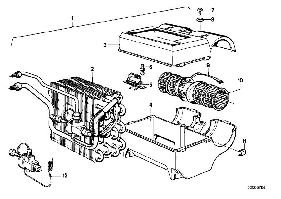 BMW 528i Wiring blower. Air, conditioning, heater