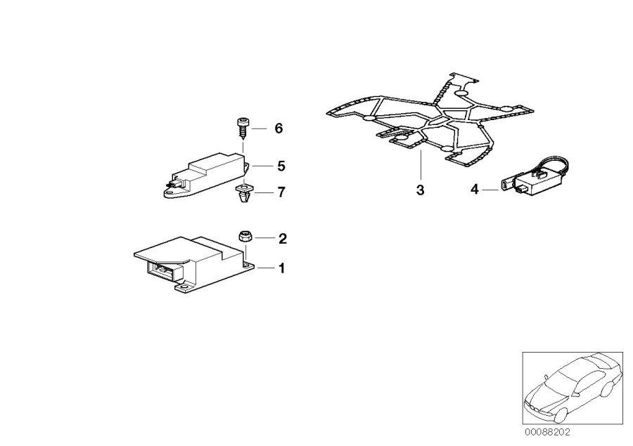 BMW Z3 Impact sensor side air bag. Electric, Airbag