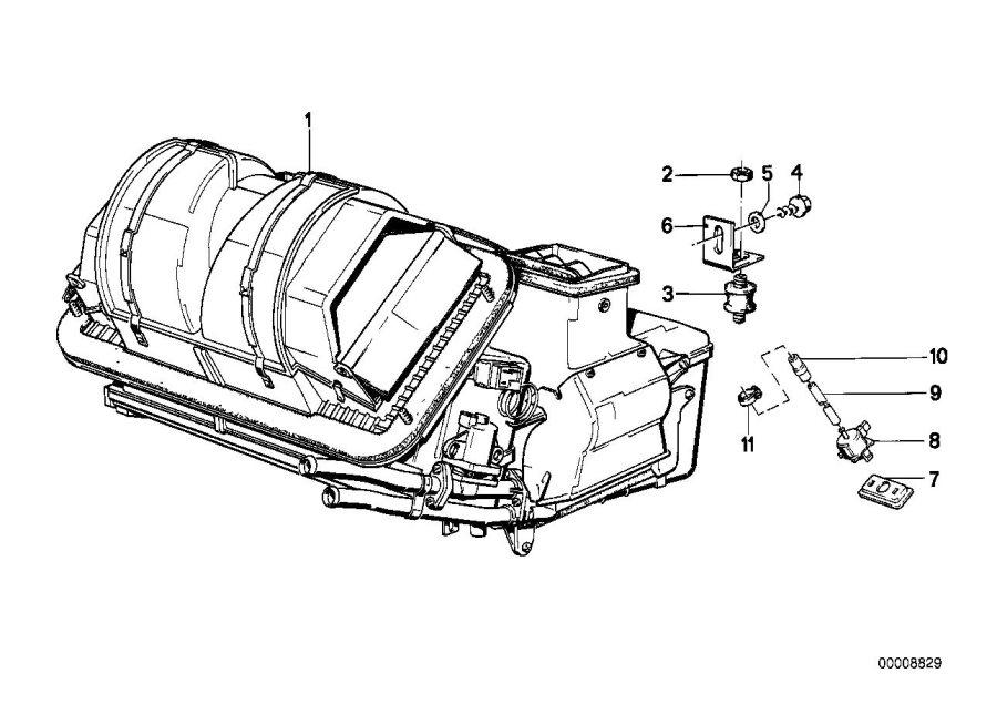 BMW 325i Vacuum hose. 2X4. Heater, Conditioning, Air