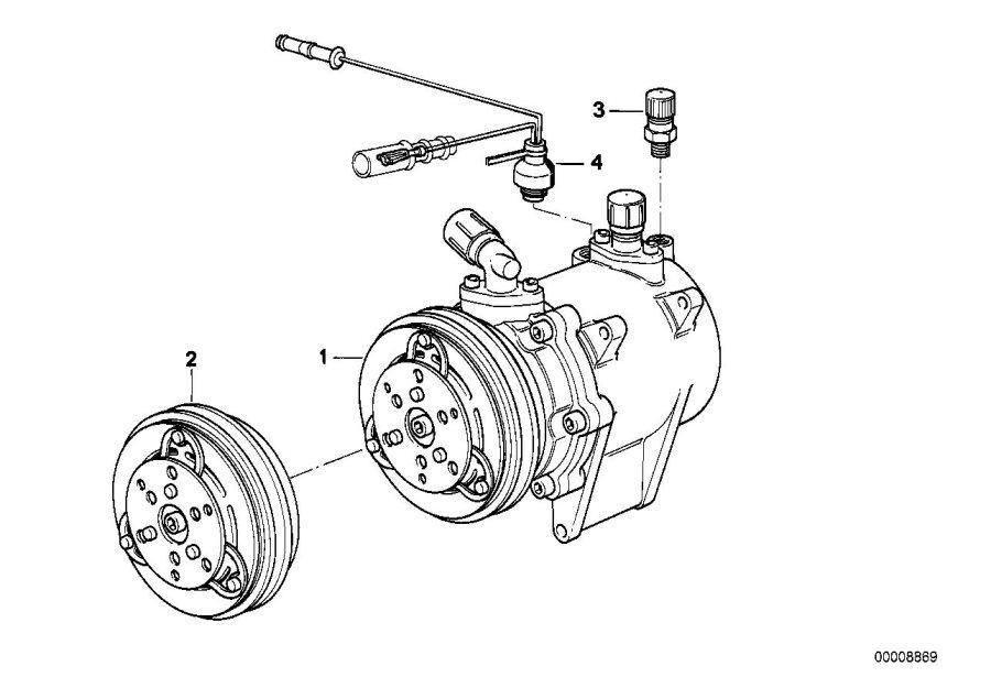 BMW 528e Exchange air conditioning compressor. R134A