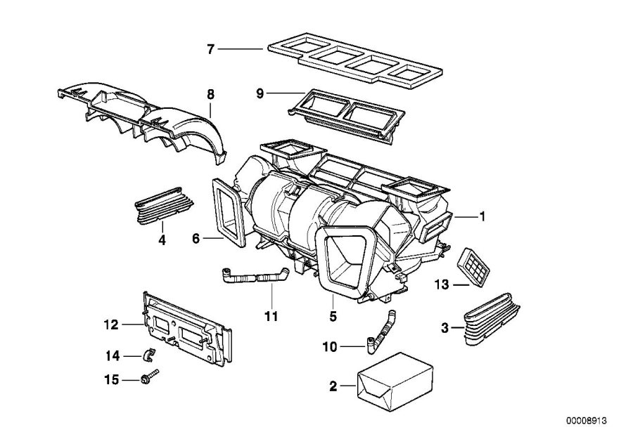 BMW 750iLP Filter cartridge. Housing, Conditioning, Air