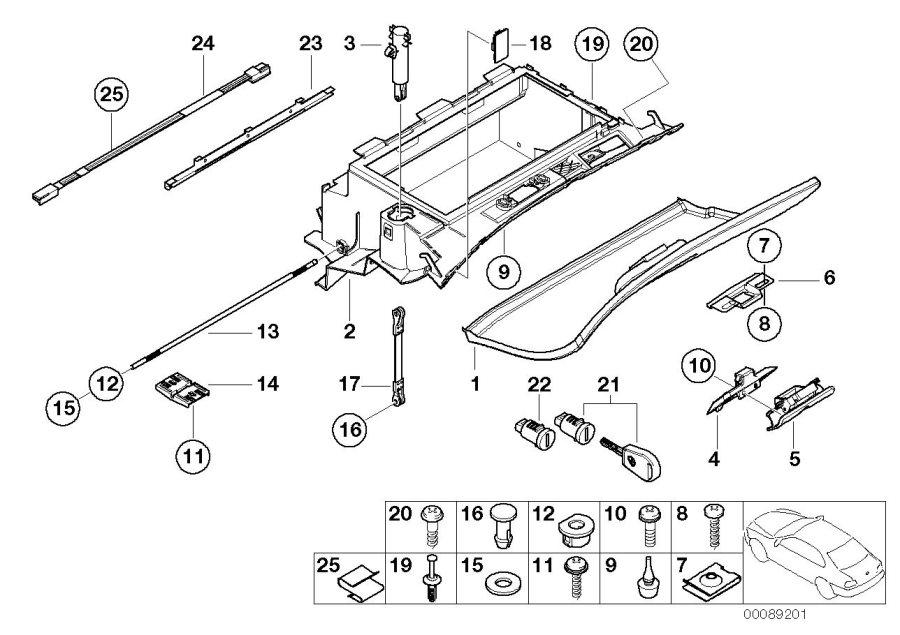 BMW 325i Glove box. Hellbeige. Trim, mounting, instrument