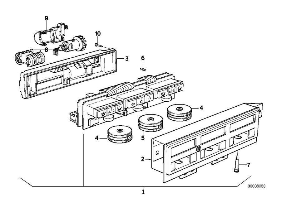 BMW 850Ci Bulb. 12v 1, 2w. Air, control, conditioning