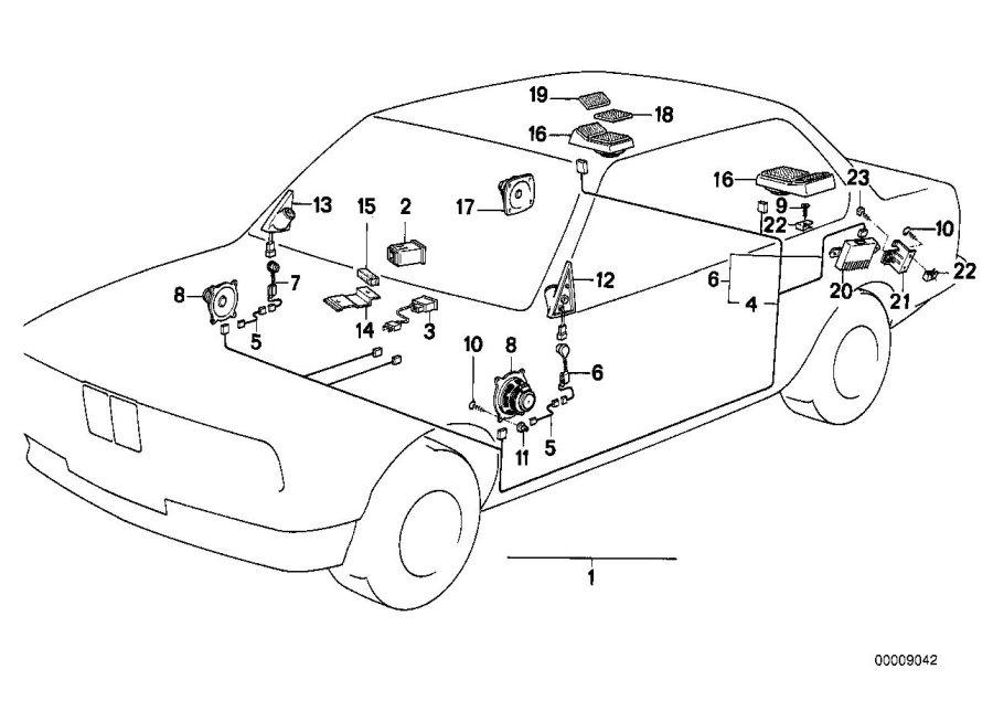 BMW 325i Loudspeaker right Loudspeaker right. SOUND SYSTEM