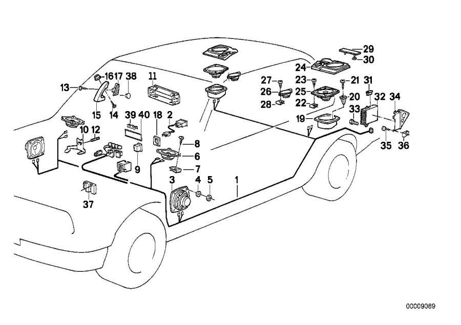 BMW M5 3.6 Equalizer module, HiFi system. Single