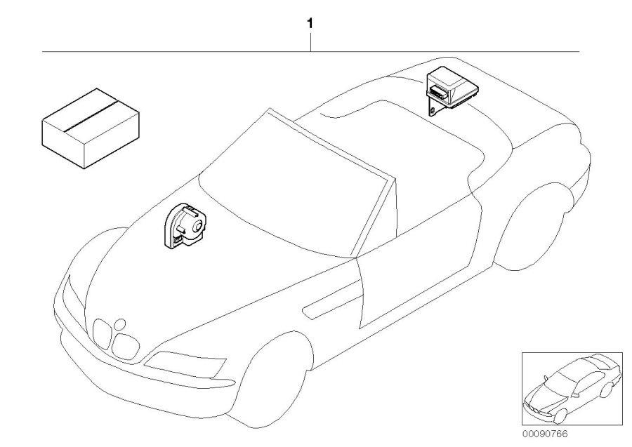 BMW Z3 Installation kit alarm system. Information