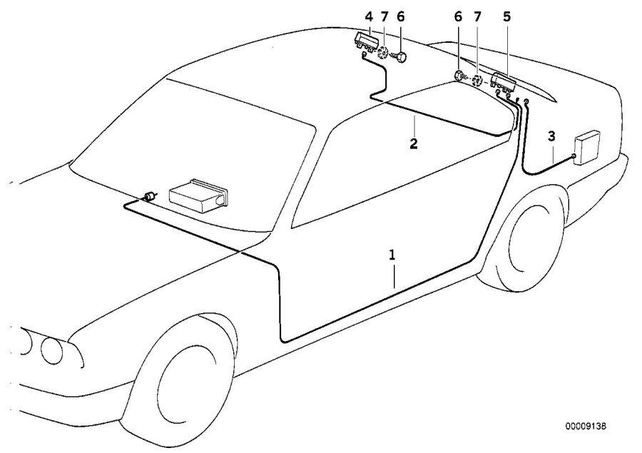BMW 840Ci Amplifier/trap circuit. Single, antenna