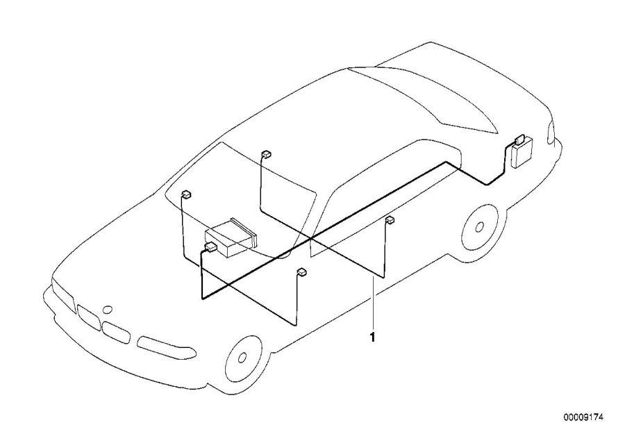 BMW 740i Audio wiring harness HiFi. LOUDSPEAKER, Info