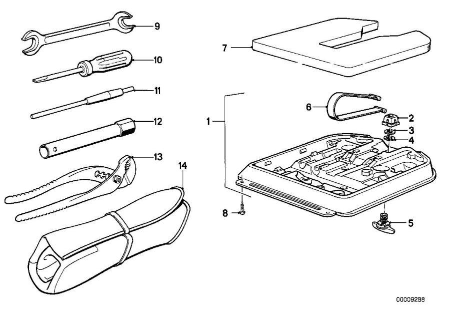 BMW 318i Spark plug wrench. Sw16. Tool, lifting, kit