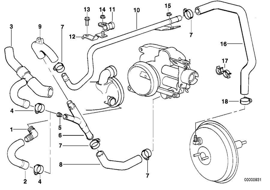 BMW 740iL Hose. Engine, Control, Vacuum, Maintenance