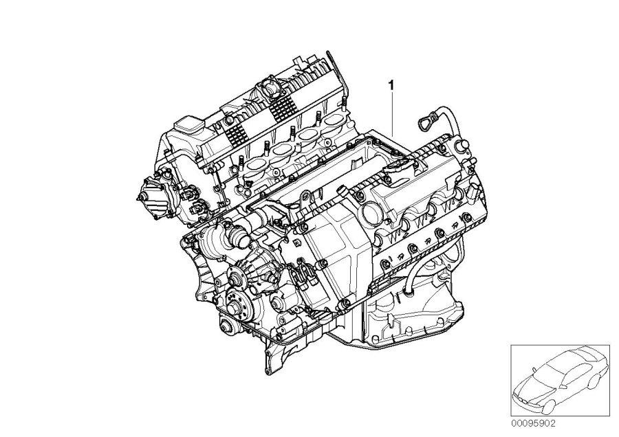 BMW 550i Tank vent line with pressure ctrl.valve. ZYL. 1-4