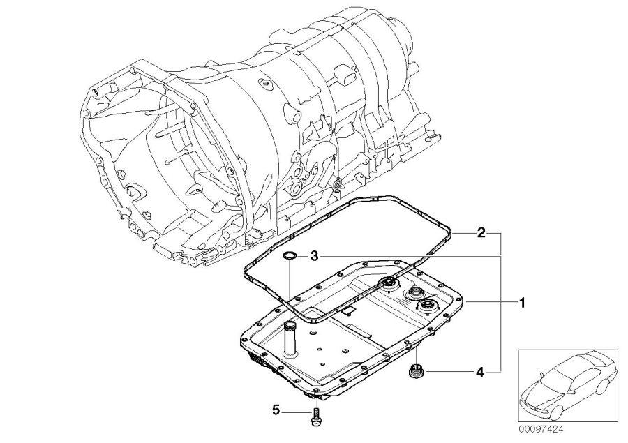 BMW 760Li Set, oil sump, oil filter, auto. Transm. ALPINA