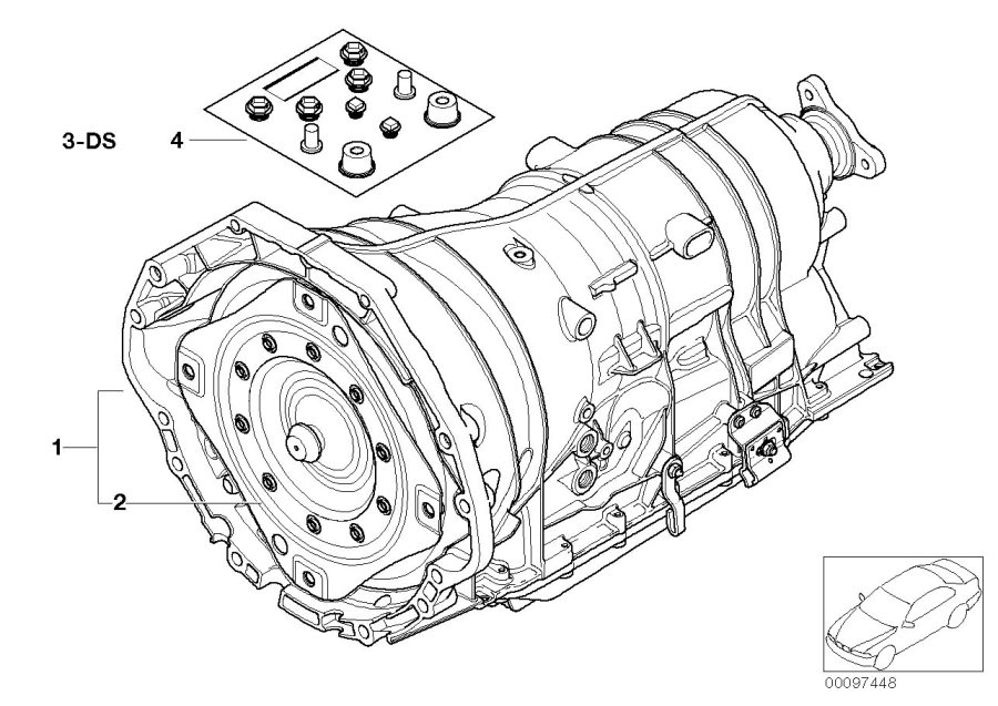BMW 745Li Exch. Automatic transmission EH. GA6HP26Z