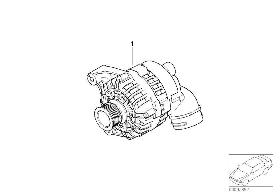 BMW Z3 Exch compact generator. Valeo 120a. Alternator