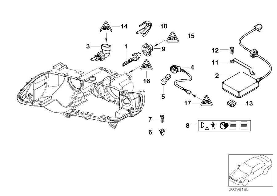 BMW X5 Support f xenon light control unit. Headlight