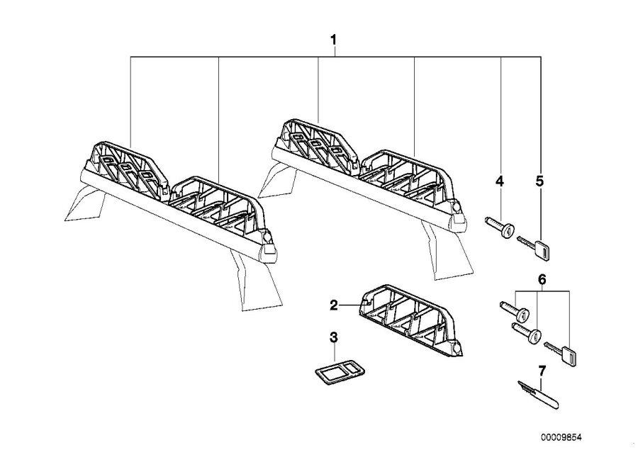 BMW 525i Base support system. E46/C. Rack, ALPINA, ROOF