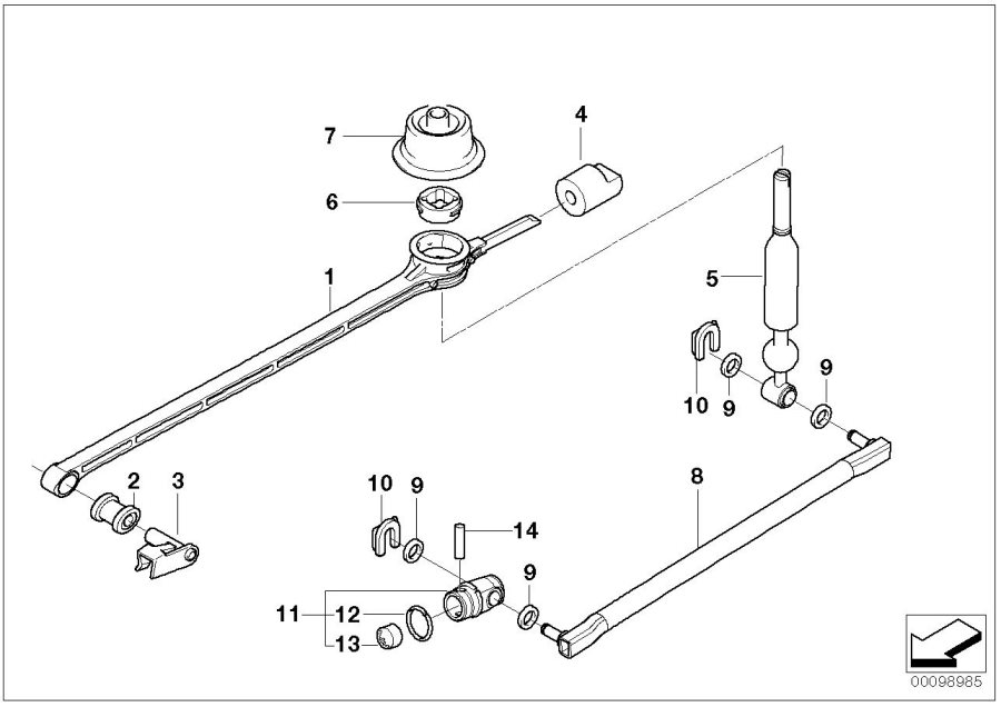 BMW M Coupe Bearing, shift lever. Gear, Transm