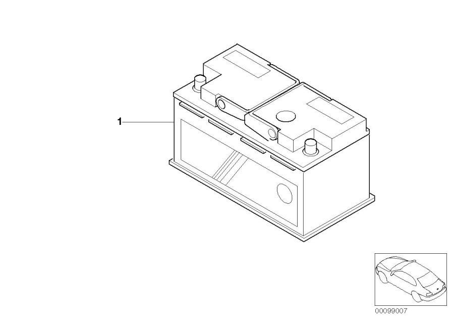 BMW X5 Battery Fa. Douglas (Warranty only). 80AH 640A