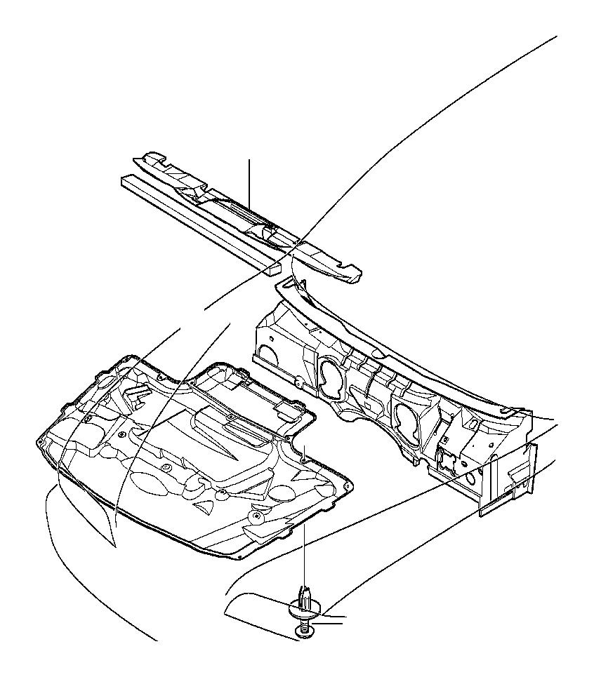BMW 530i Sound insulation f apron. L1367mm. Trim, body