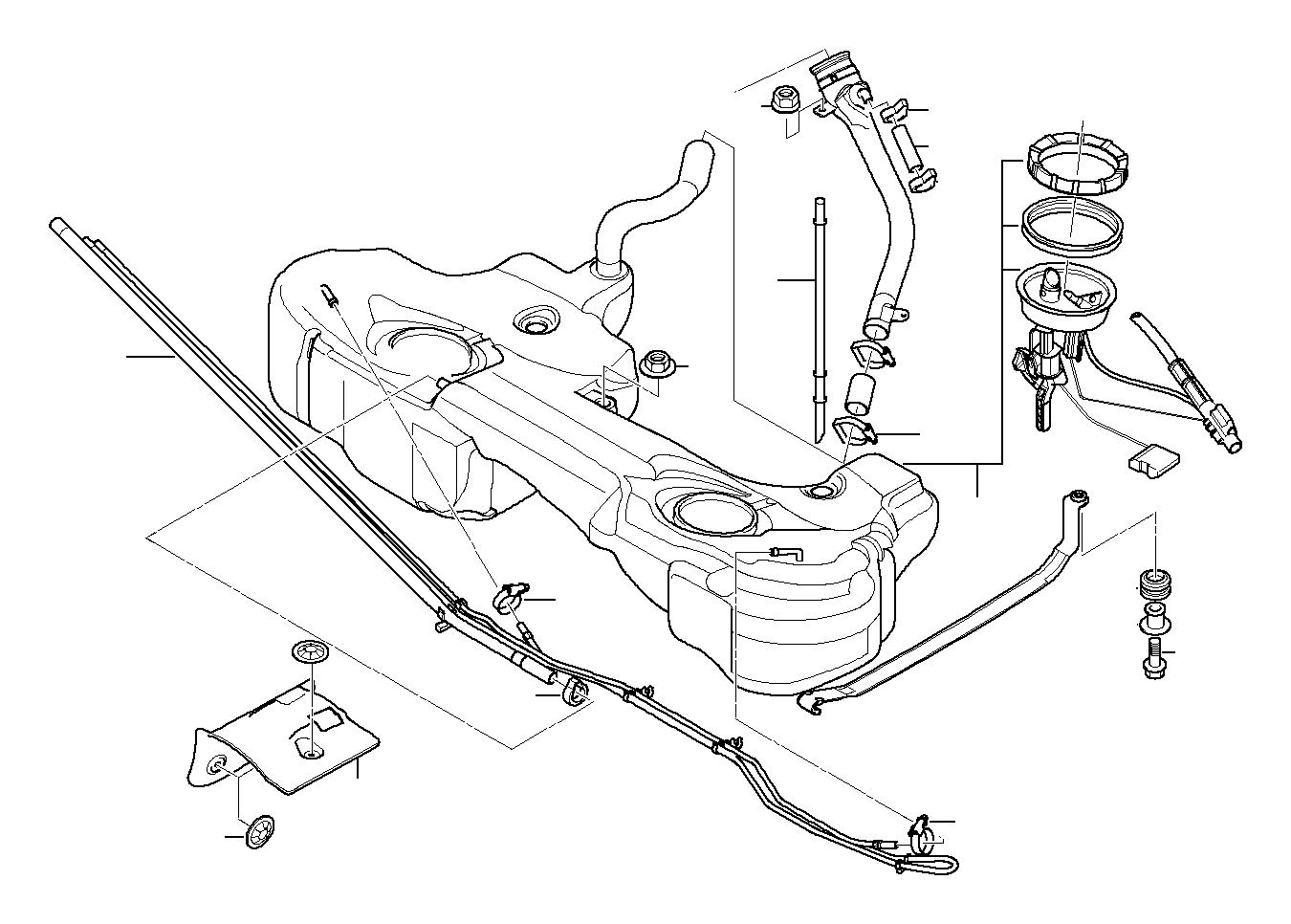 Bmw 330xi Plastic Fuel Tank With Left Sensor System