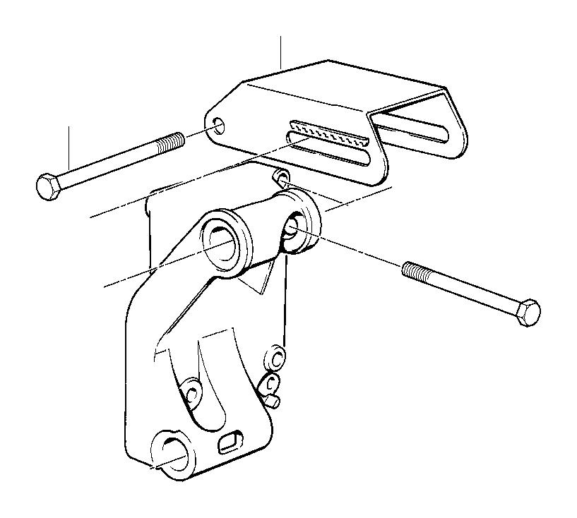 BMW 318i Supporting bracket. ALTERNATORMOUNTING, System