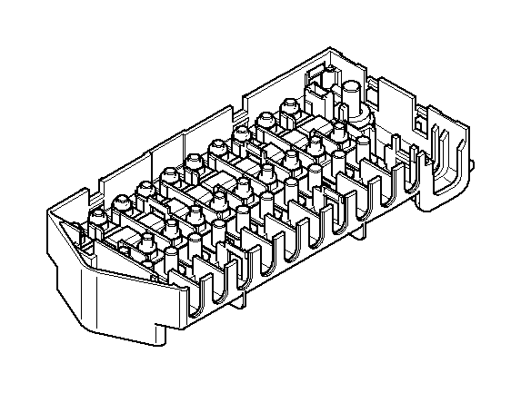 BMW X5 Fuse housing 10-fold. Single, Components