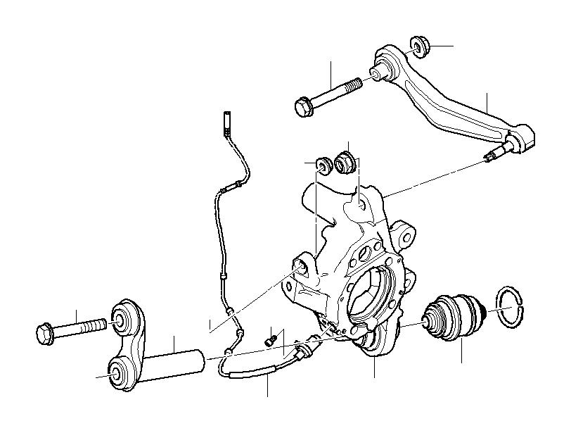 BMW 525i Pulse generator, DSC rear. Suspension, Axle