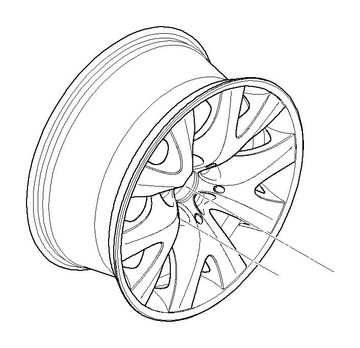 BMW 745i Light alloy rim. 9JX19 ET:24. Wheels, Wheel