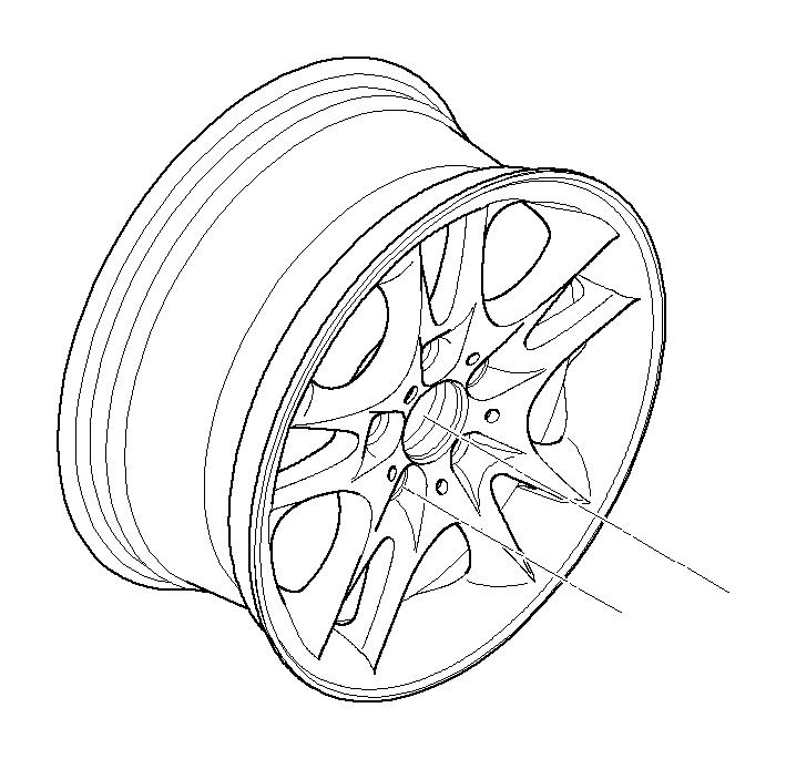 BMW X3 Light alloy rim. 8JX17 ET:46. Wheels, Wheel