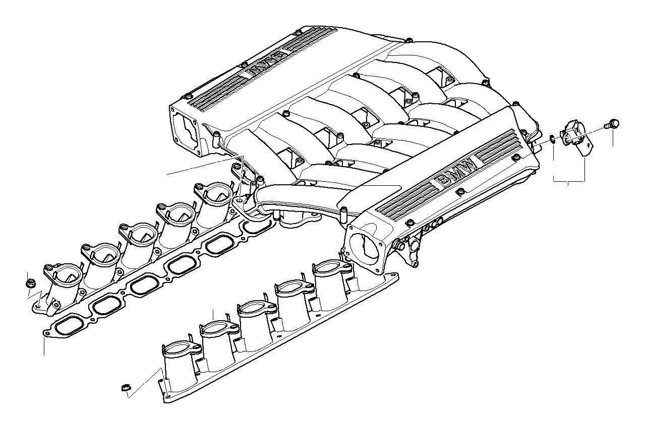 Bmw 760li Intake Manifold System Engine