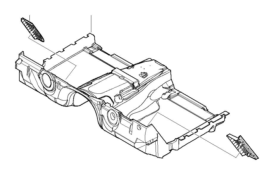 BMW 760i Driver's footrest. BEIGE. Trim, Body, ALPINA