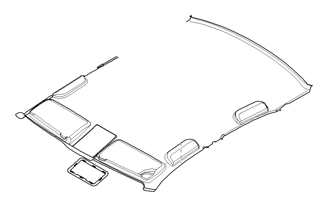 BMW 540i Molded headlining f slid. Lift. Roof its