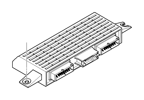 BMW 750iL Light and check-control module. Units