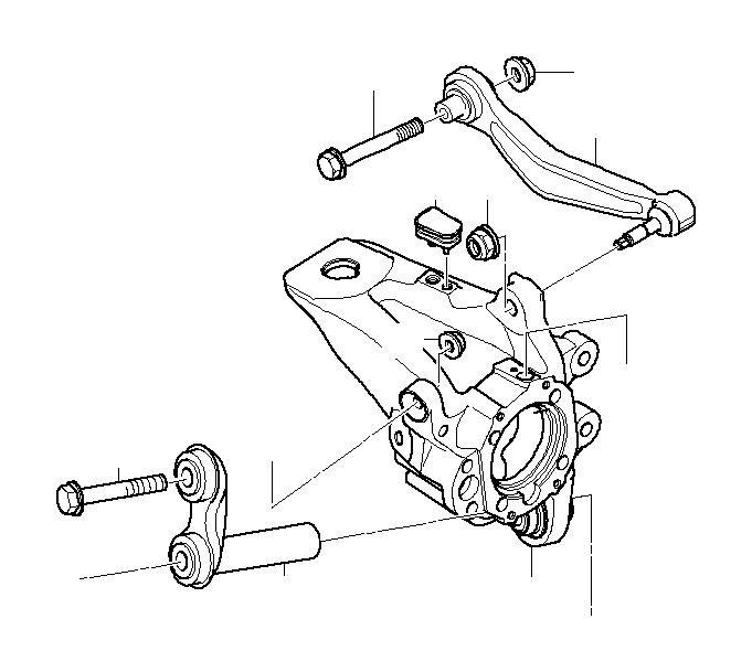 BMW 750Li Repair kit, wishbone, right. VALUE LINE