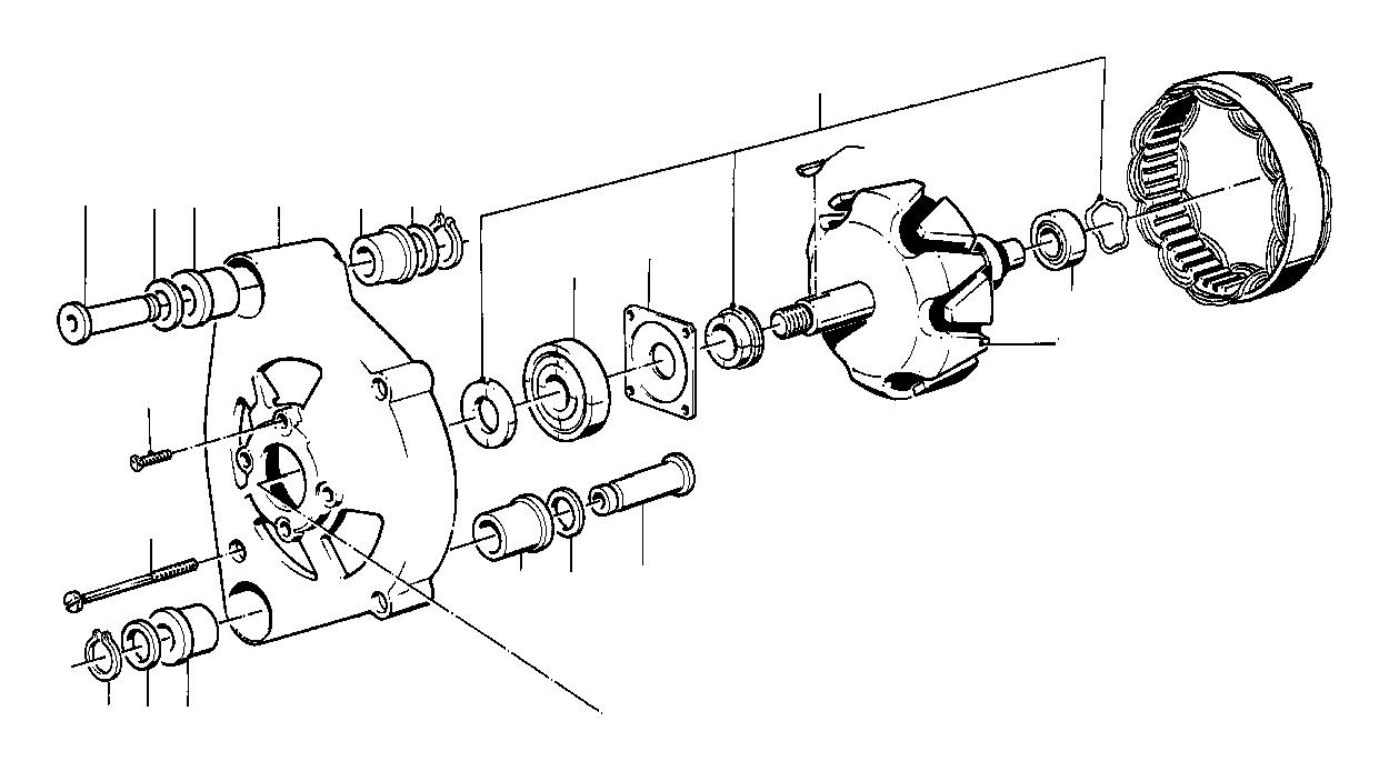 1985 BMW 318i Repair kit rotor. Alternator, individual