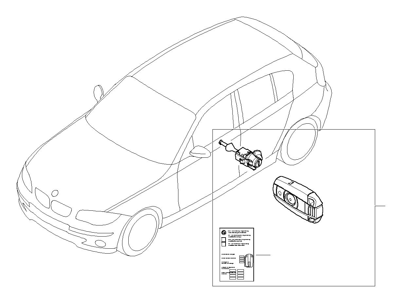 BMW 540i Label Key Memory. Trim, Body, Locking