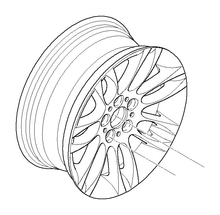 BMW 328i Light alloy rim. 8 1/2JX18 ET:37. Wheels, Wheel
