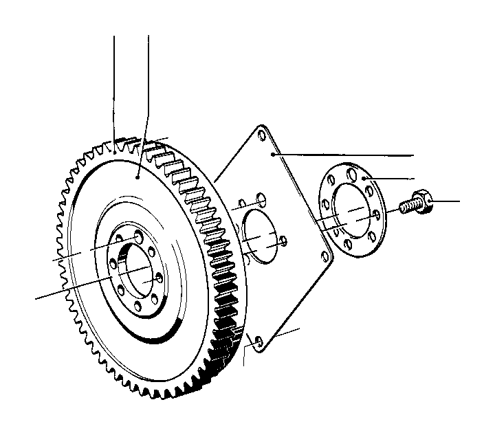 BMW 2002 Flywheel. D= 228MM, 8 LOCH. Zyl, CRANKSHAFT