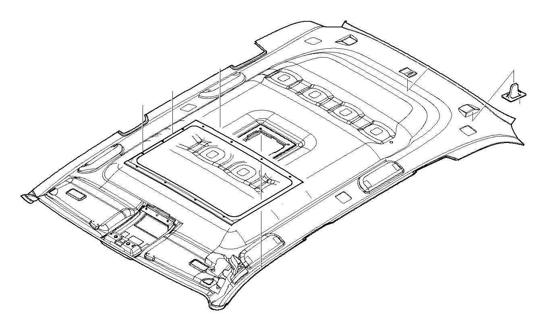 BMW M5 3.6 Holder. Trim, Interior, Headlining