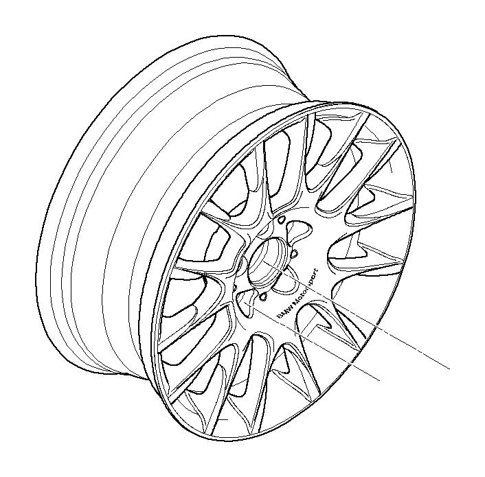 BMW 128i Light alloy rim. 8 1/2JX18 ET:52. Wheels, Wheel