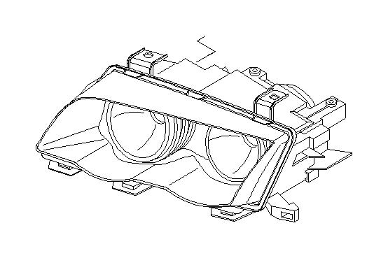 BMW 545i Bulb Xenon light. D2-S 35W. Headlight, Single
