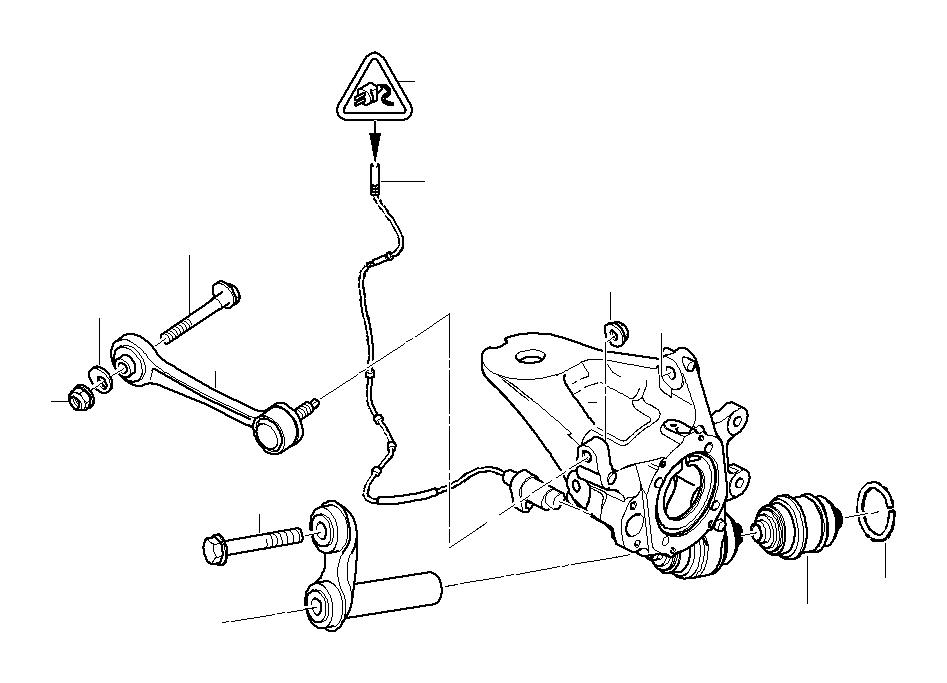 BMW 650i Integral link. Suspension, rear, axle